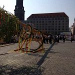 Maibaumsetzen auf dem Dresdner Altmarkt