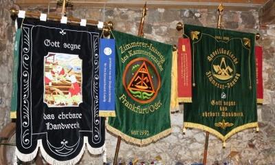 Fahnen der Zimmererinnungen des Landesinnungsverbandes Brandenburg