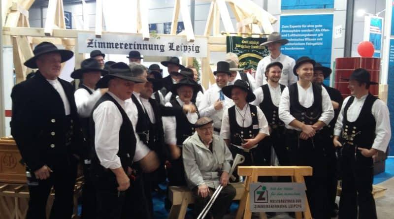 Mitglieder und Gäste der Zimmererinnung Leipzig